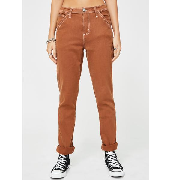 Dickies Girl Brown Slim Carpenter Pants