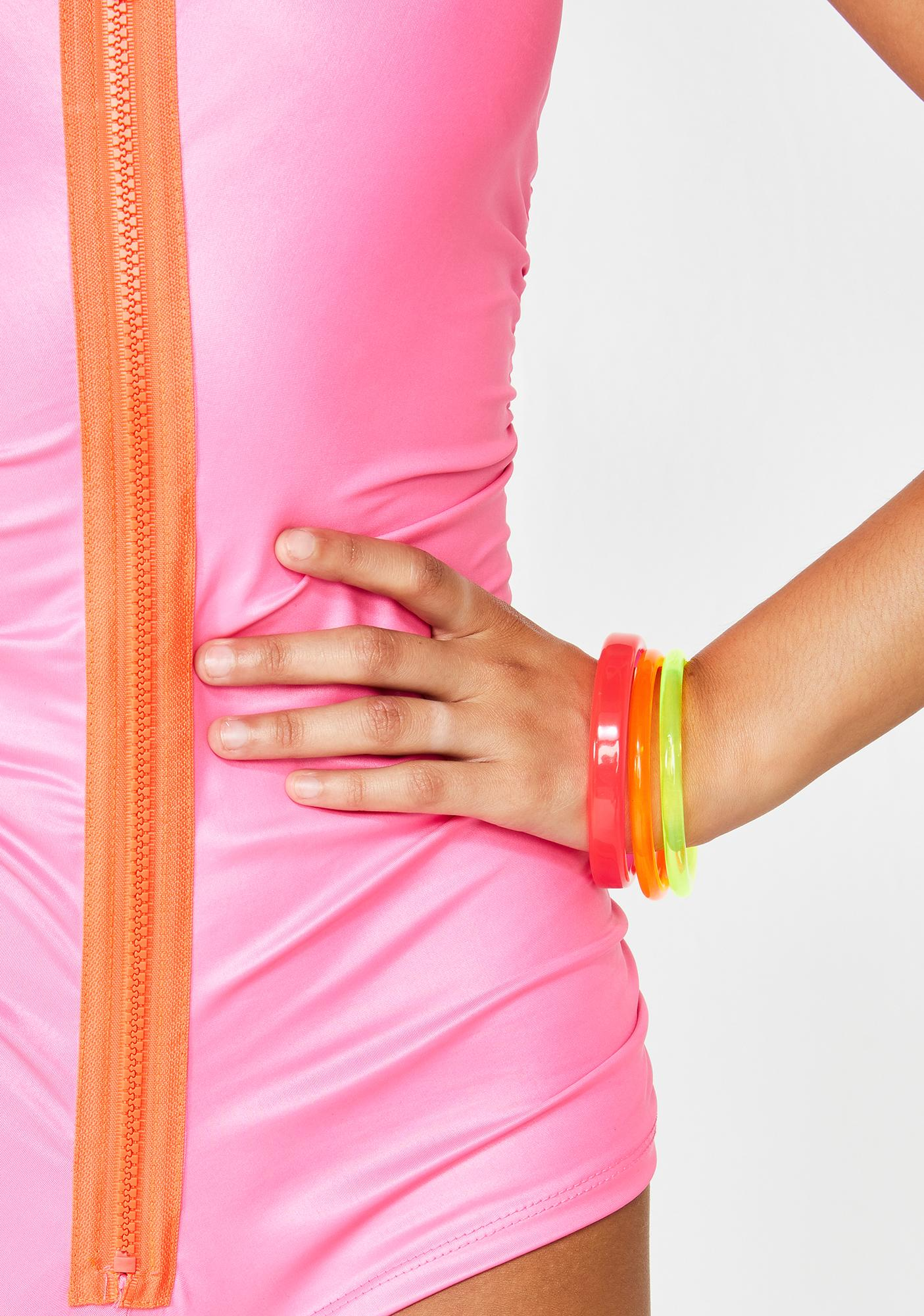 Prismatic Princess Neon Bracelet Set