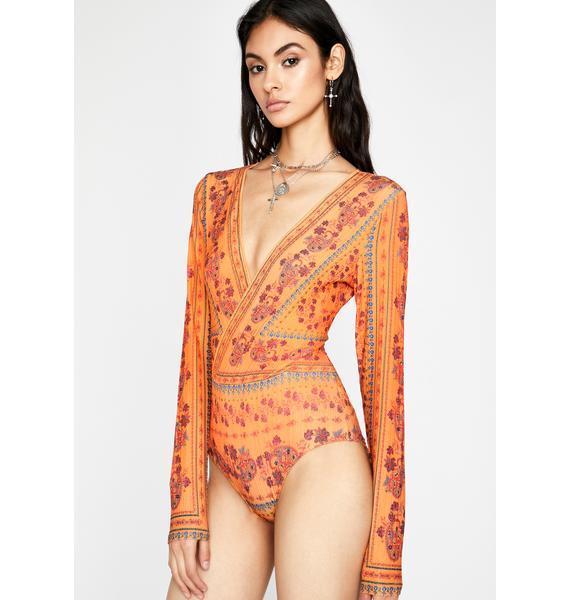 Juicy Feelin' BoHeaux Long Sleeve Bodysuit