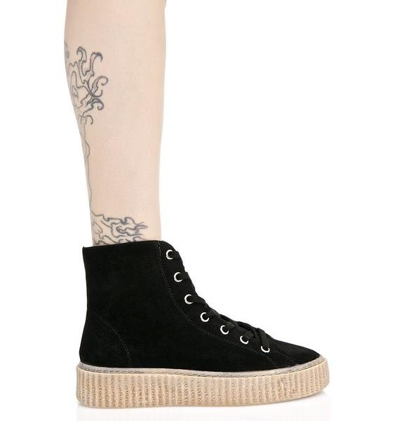Public Desire Iyla Hi Top Creeper Sneakers
