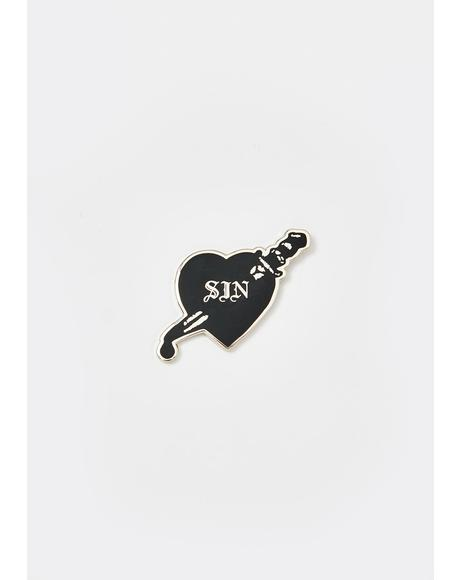 Sin Pin Badge