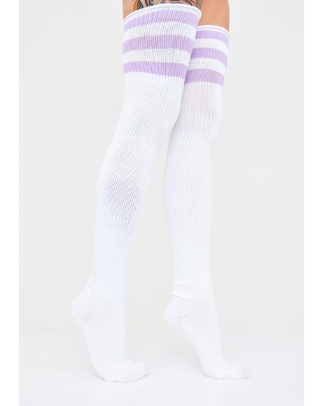 Grape Ice Princess Thigh High Socks
