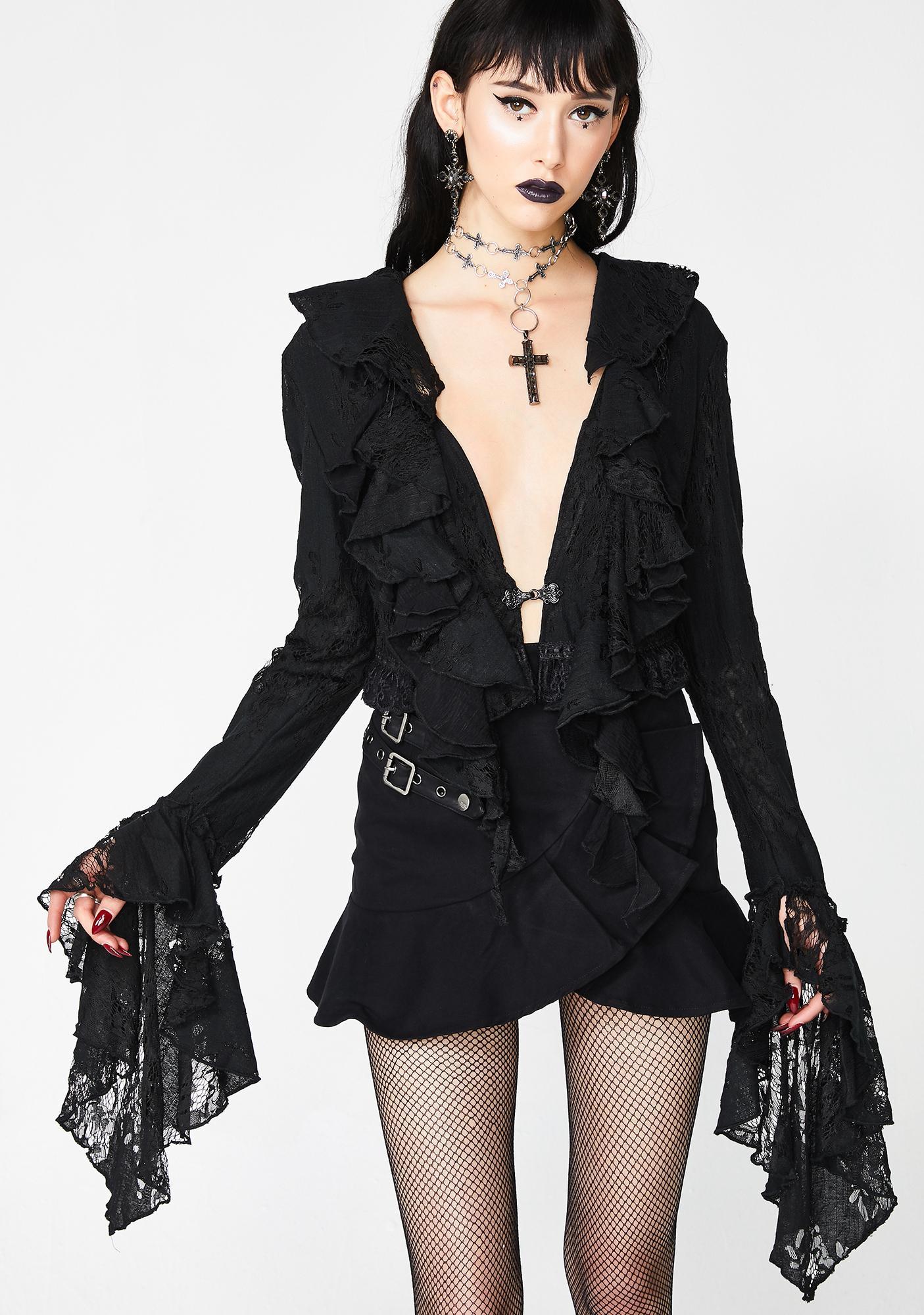 Punk Rave Gothic Decadent Short Coat