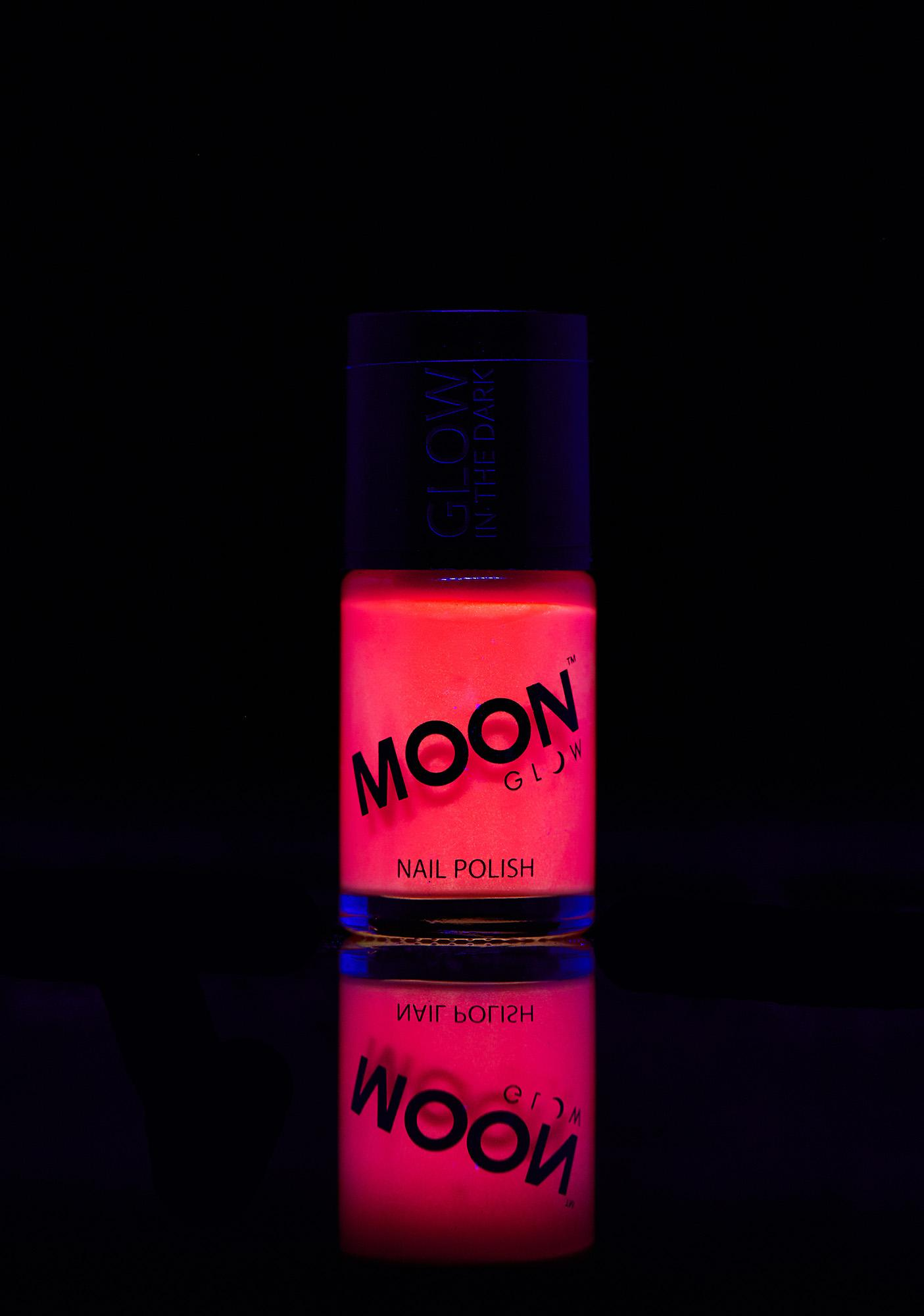 Moon Creations Pink Glow In The Dark Nail Varnish