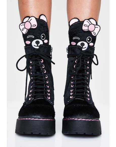 Best Furrends Combat Boots