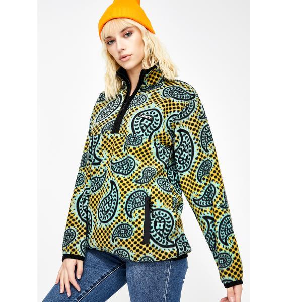 Obey Eisley Mock Fleece Pullover