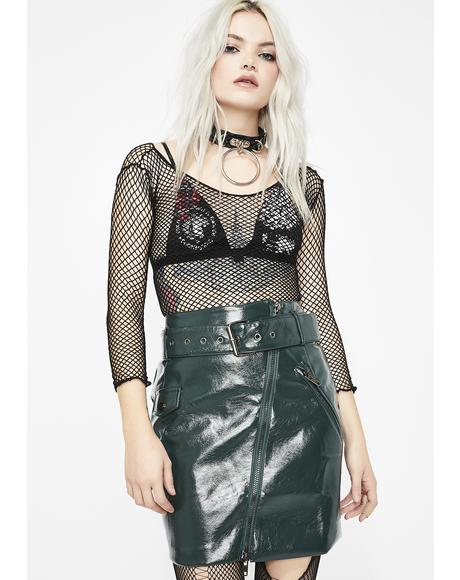 Misfit Nation Vinyl Skirt