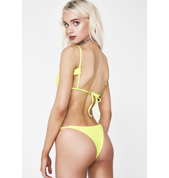 Frankies Bikinis Lemon Drop Willa Bikini Bottoms