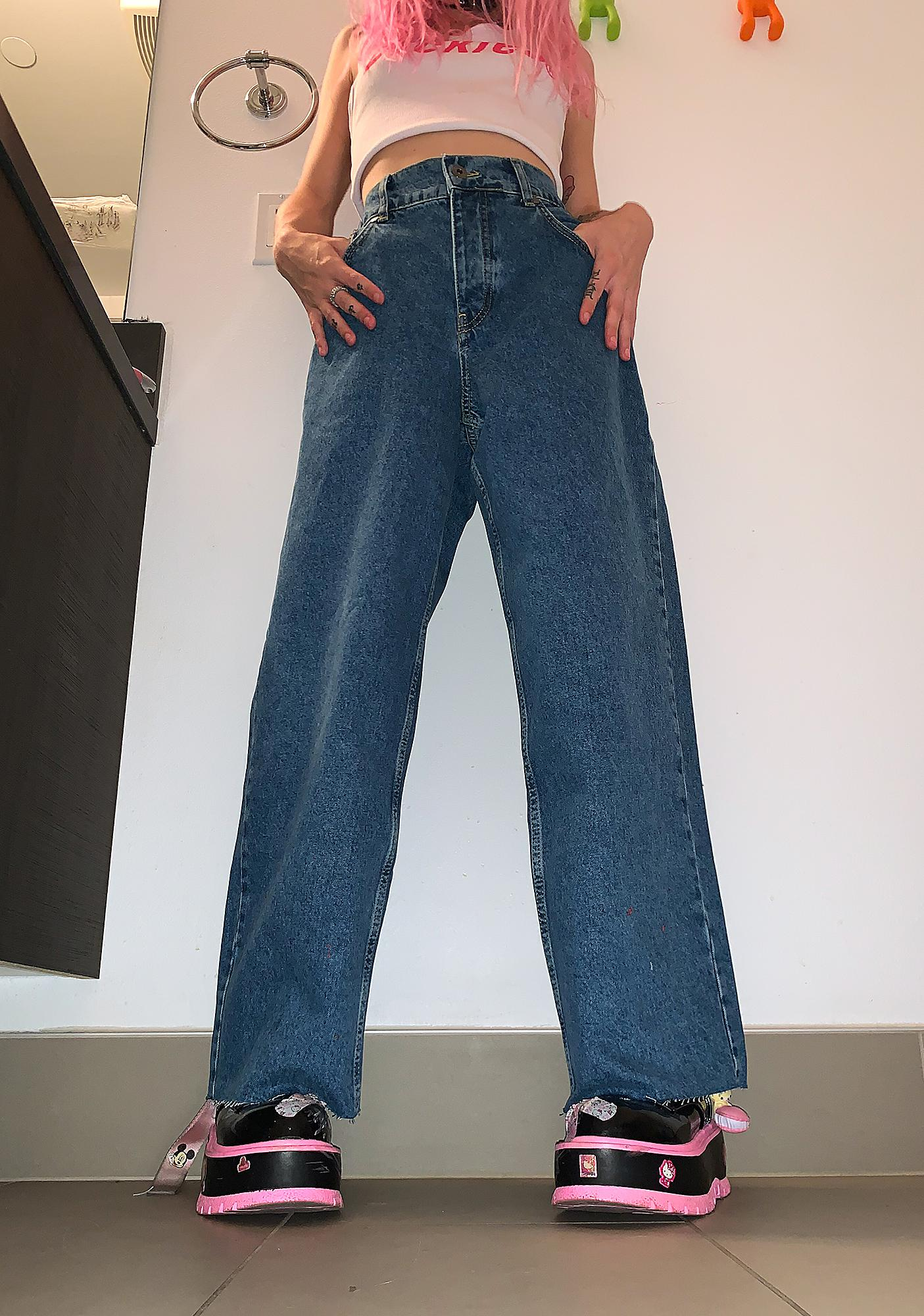 The Ragged Priest Grip Skater Wide Leg Jeans
