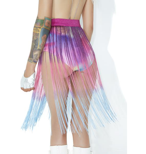 Club Exx Flow Moment Fringed Waist Belt
