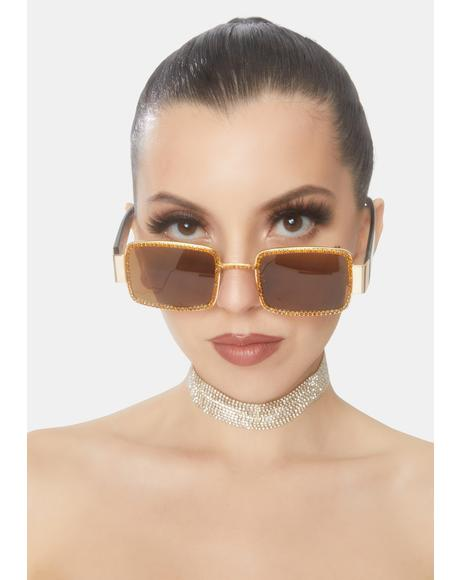 Scotch Kind Of Wonderful Rhinestone Sunglasses