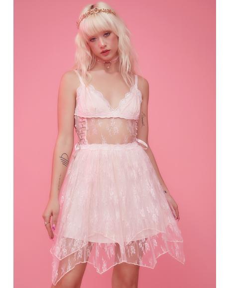 Poetic Harmony Lace Corset Dress