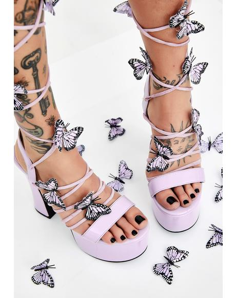 Pixie Queen Lace Up Heels
