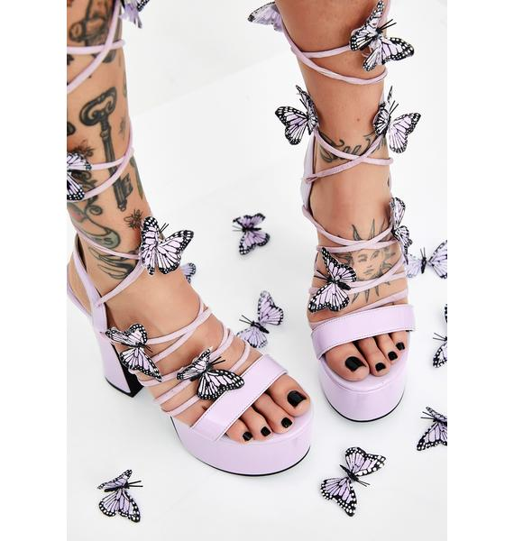 Sugar Thrillz Pixie Queen Lace Up Heels