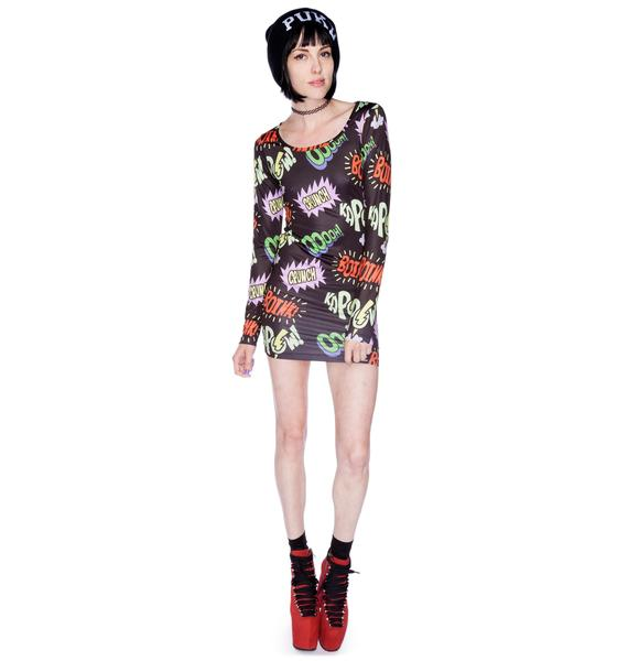 Lazy Oaf Kapow Bodycon Dress