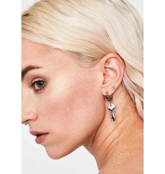 Right On Key Hoop Earrings