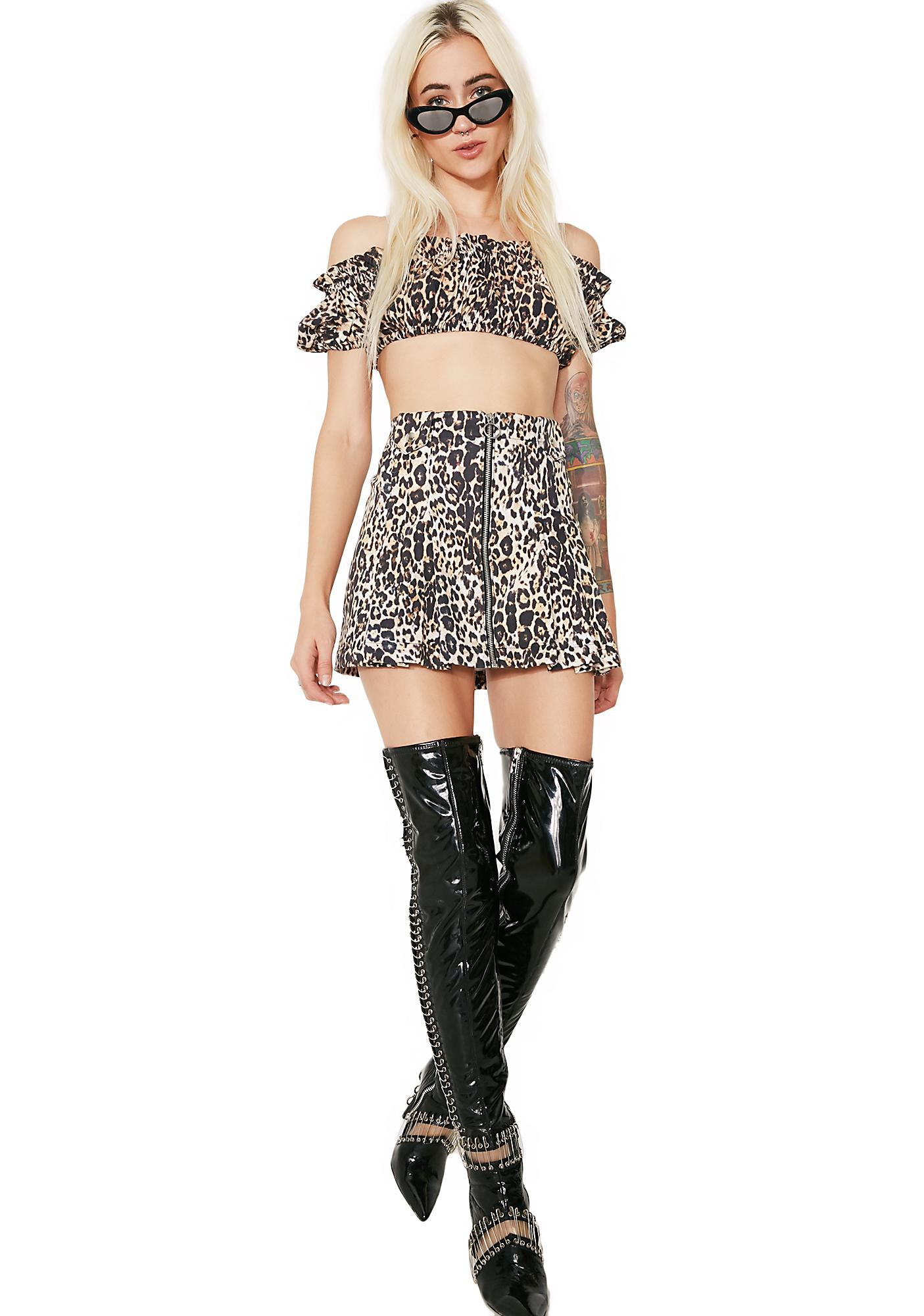 Hardware LDN Sweet 16 Leopard Skirt
