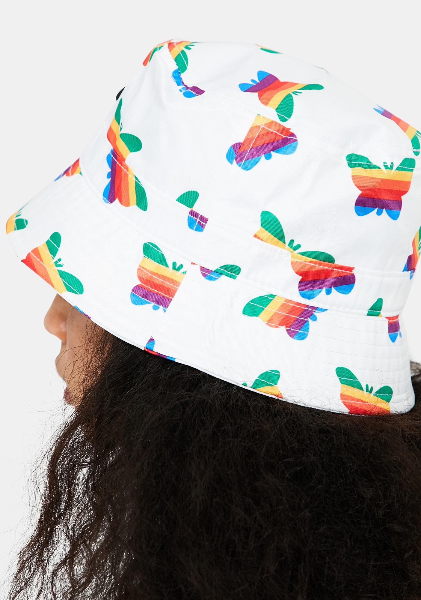 Petals and Peacocks Think Growth Bucket Hat