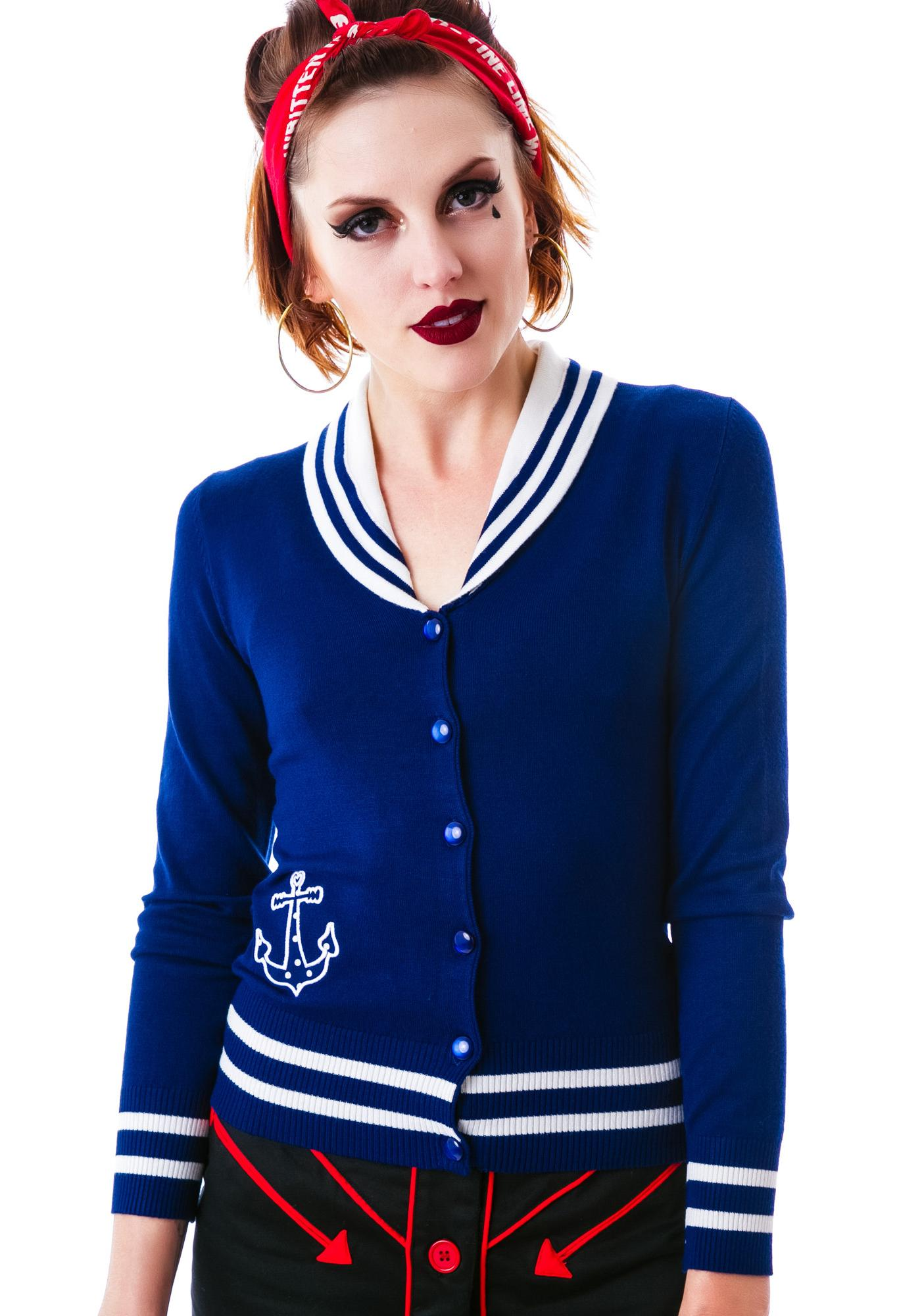 Hell Bunny Starboard Cardigan