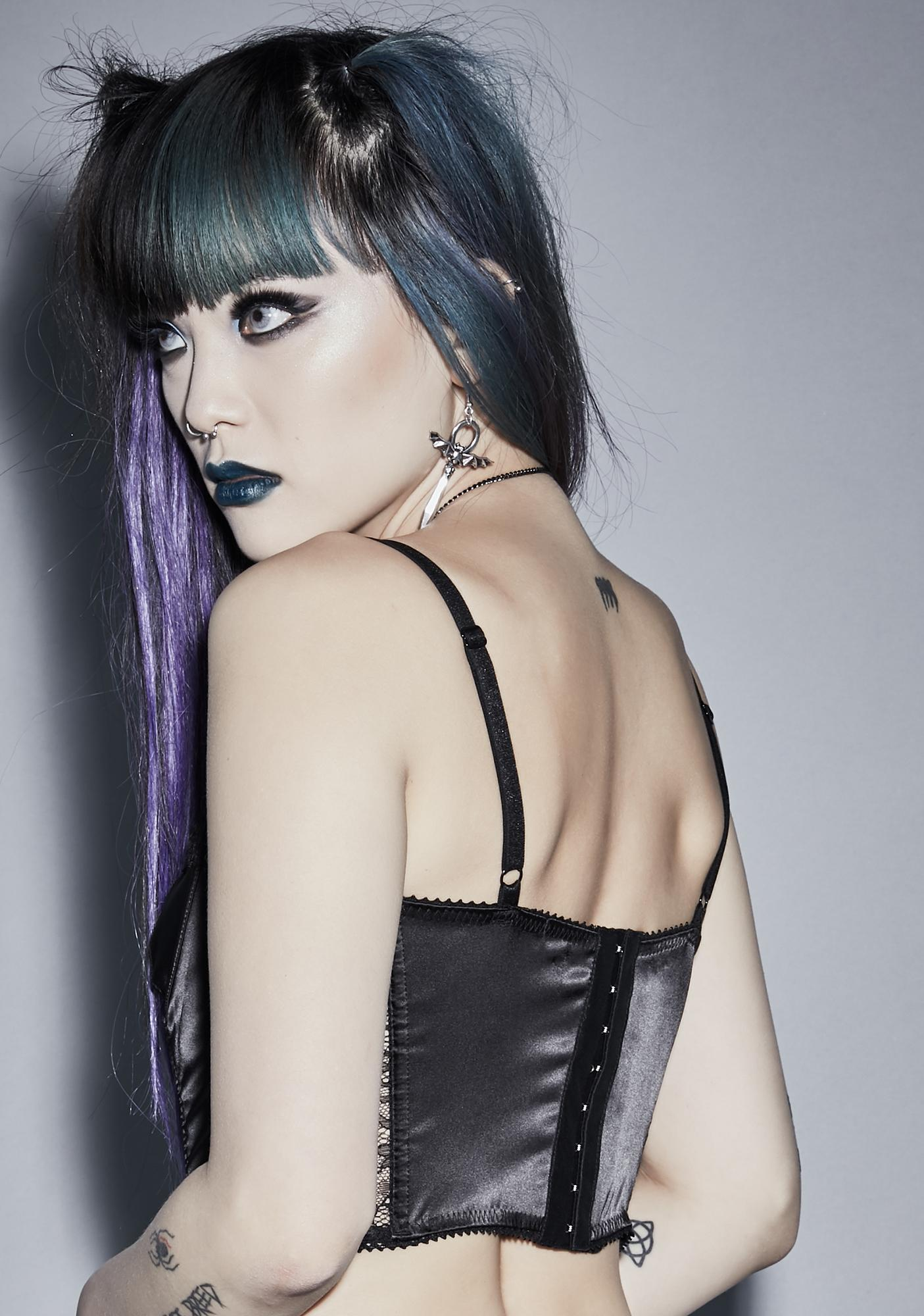Widow No Solace Lace Bustier