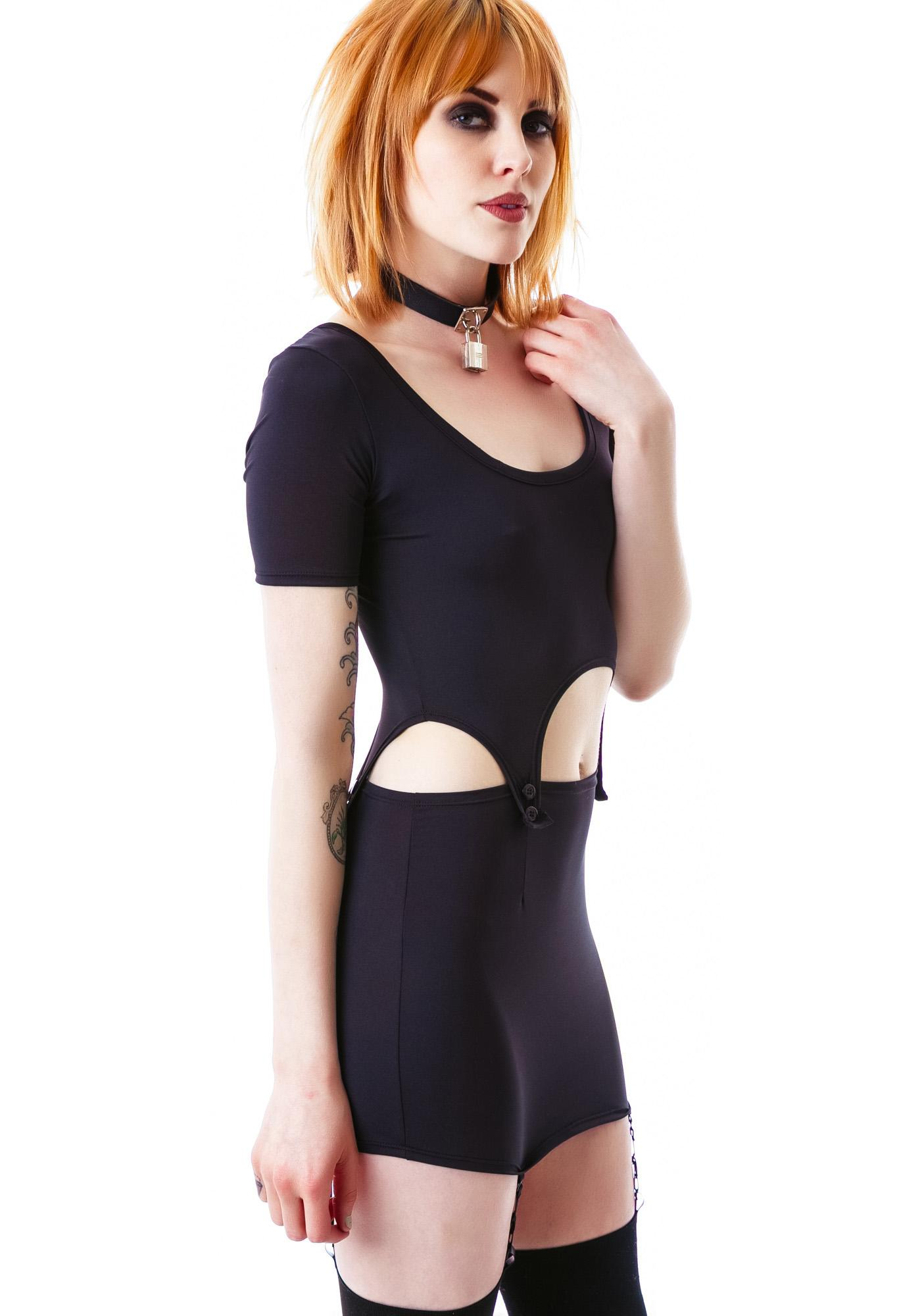 Drop Top Suspender Dress