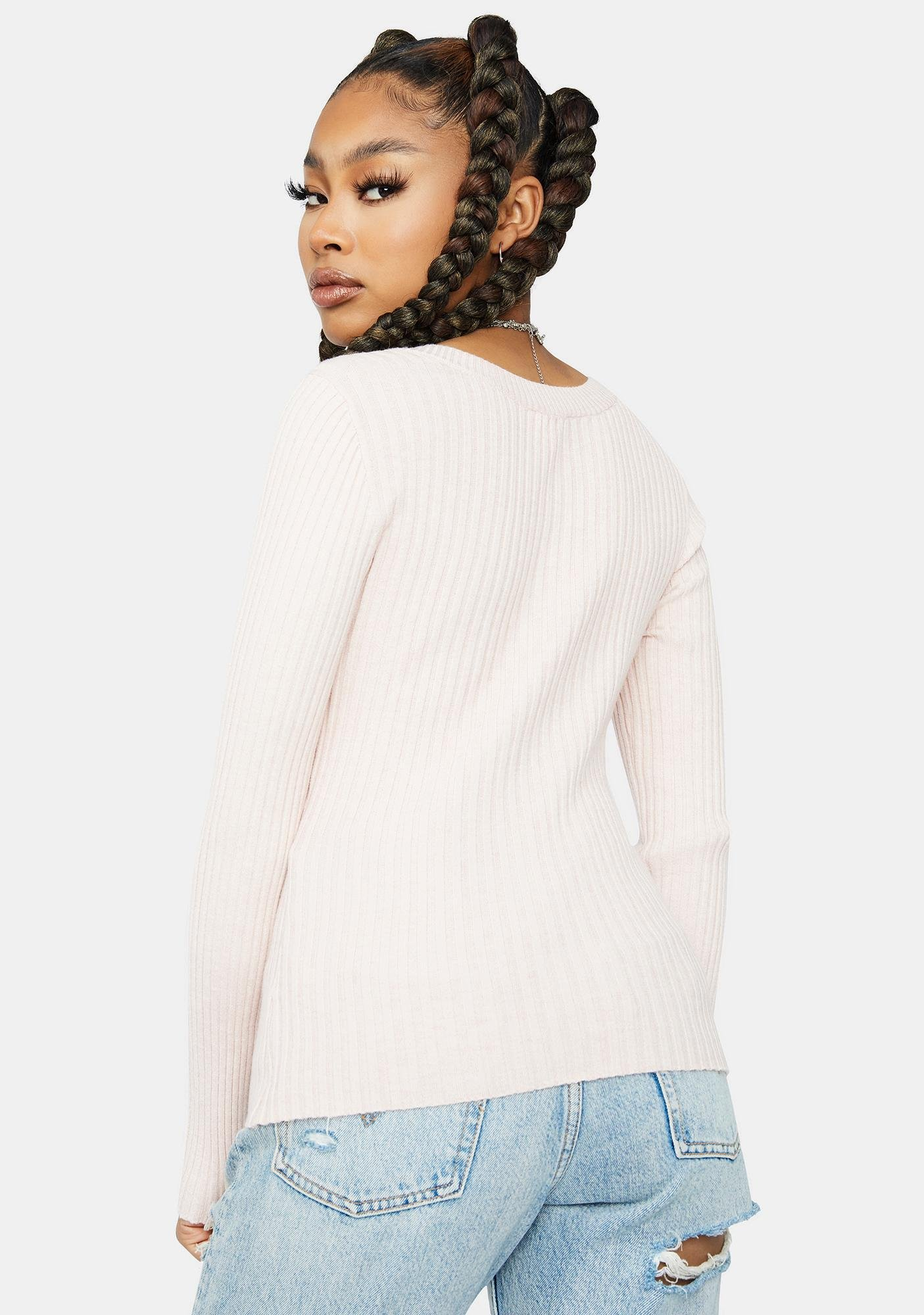 Goodnight And Go Square Neck Sweater