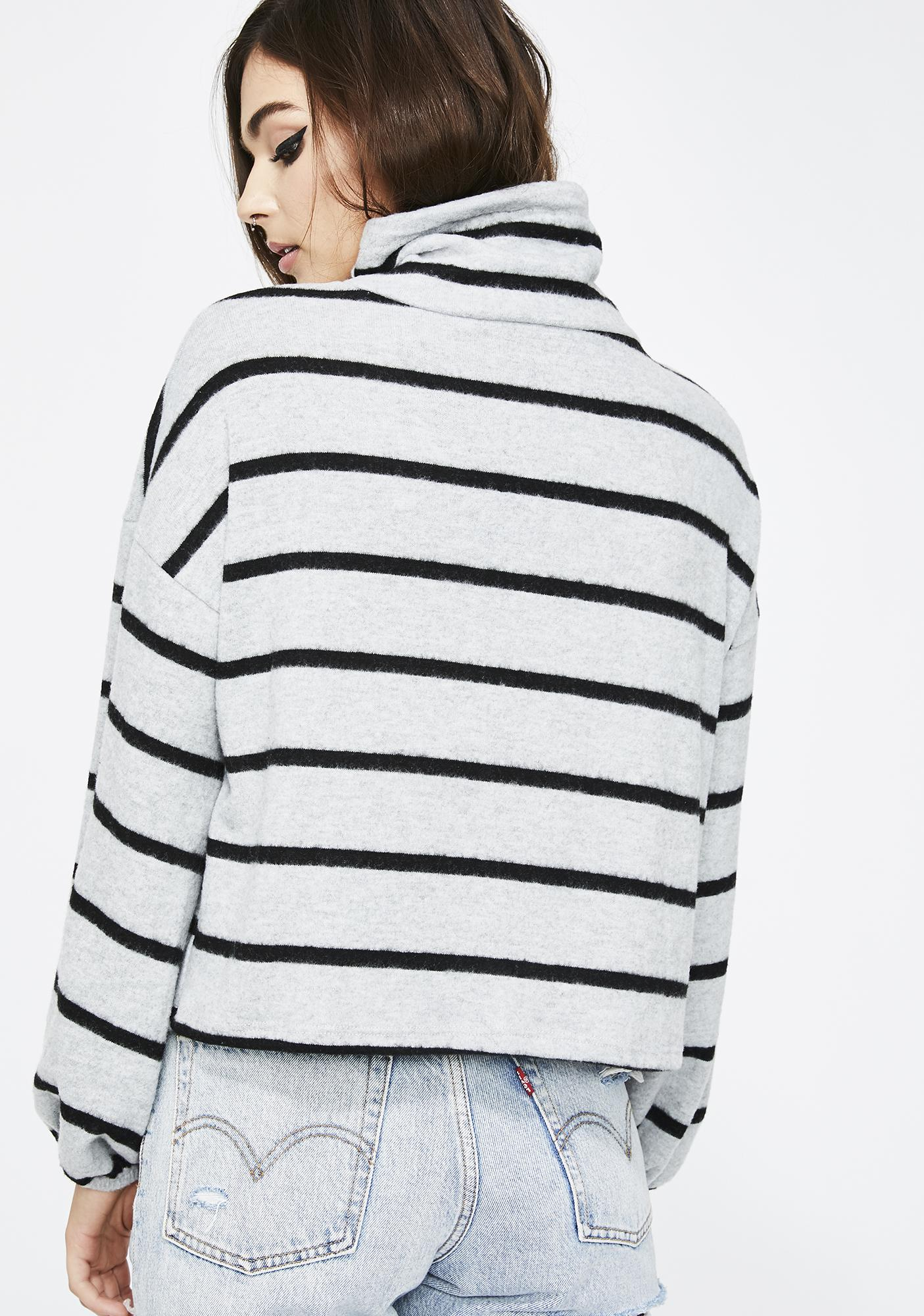 Stoned Too Chill Stripe Sweater