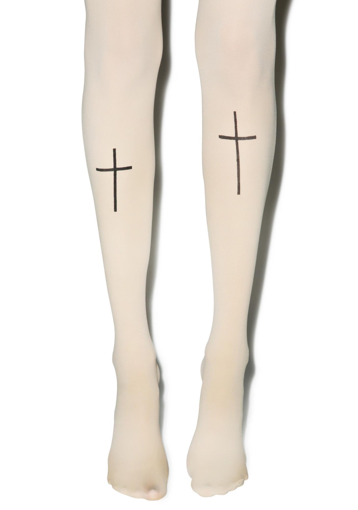 Cross Your T's Tights