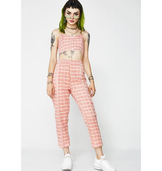 Candy Coated Plaid Pants