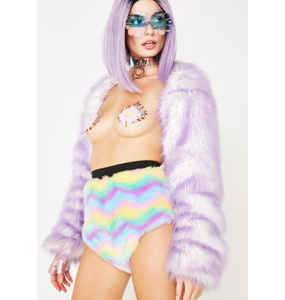 Isolated Heroes Sherbet Delight Faux Fur Shorts
