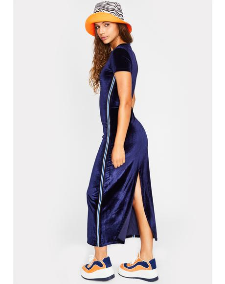Chasin' Waterfalls Velour Dress