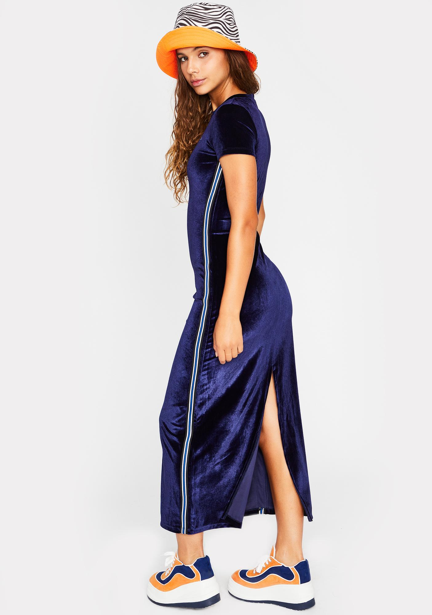 dELiA*s by Dolls Kill Chasin' Waterfalls Velour Dress