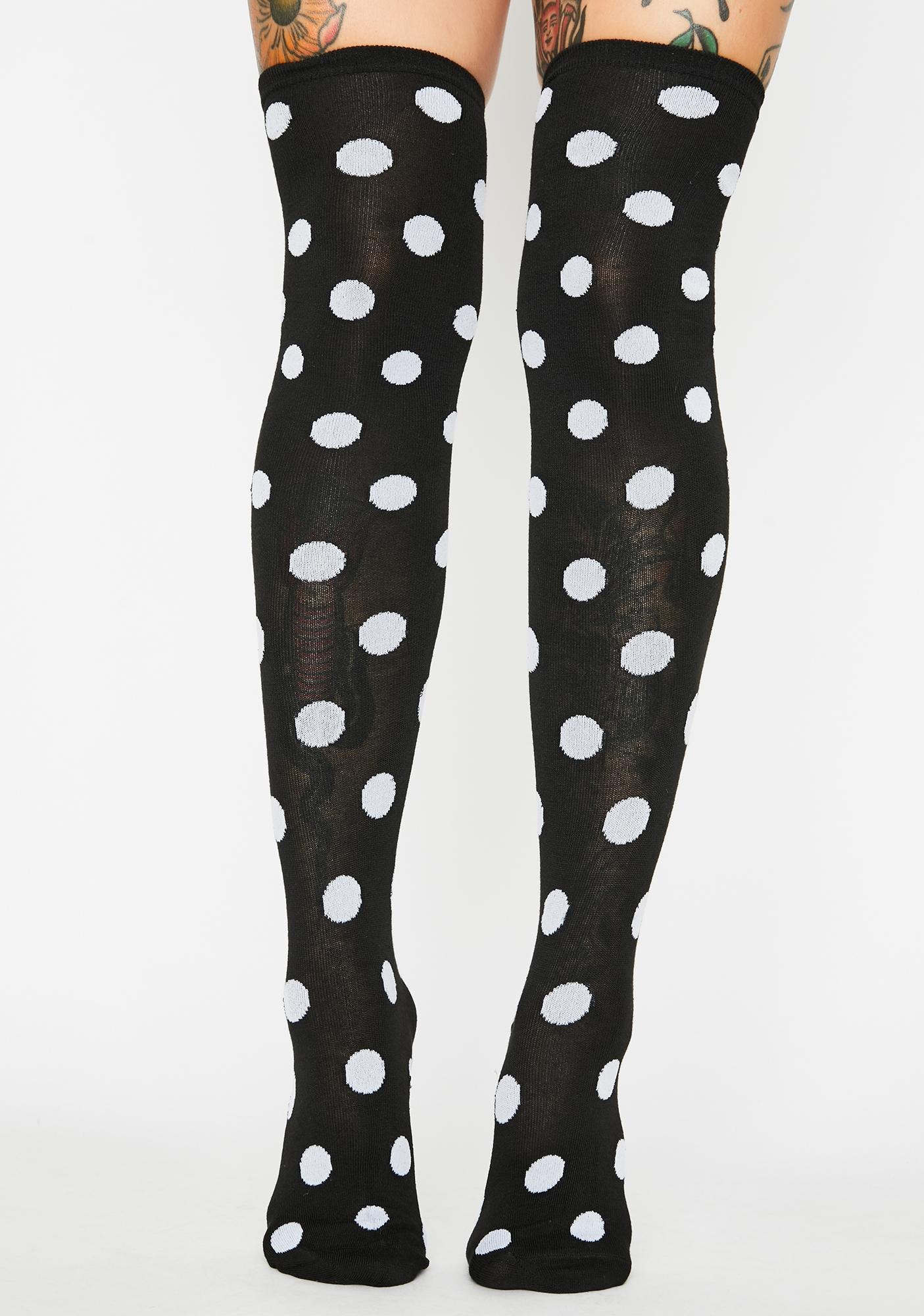Connect The Dots Thigh High Socks