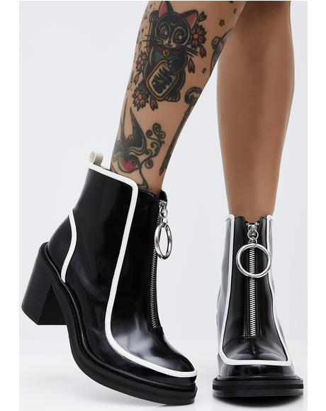 Freya Zip-Up Booties