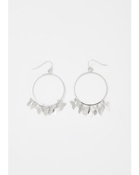 Flutter Fantasy Hoop Earrings