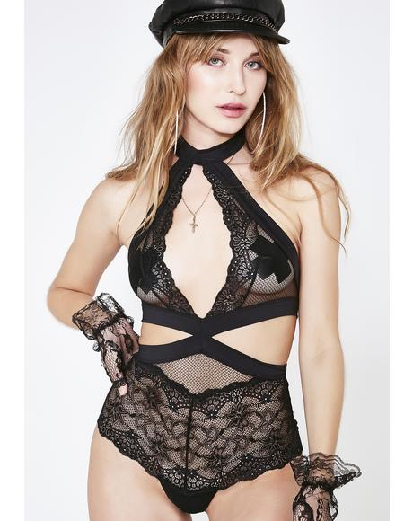 Forbidden Sin Lace Teddy