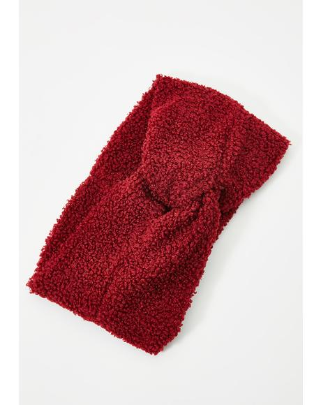 Red Leah Teddy Headband
