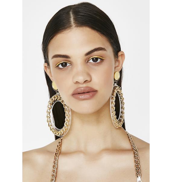 Be Louder Chain Earrings