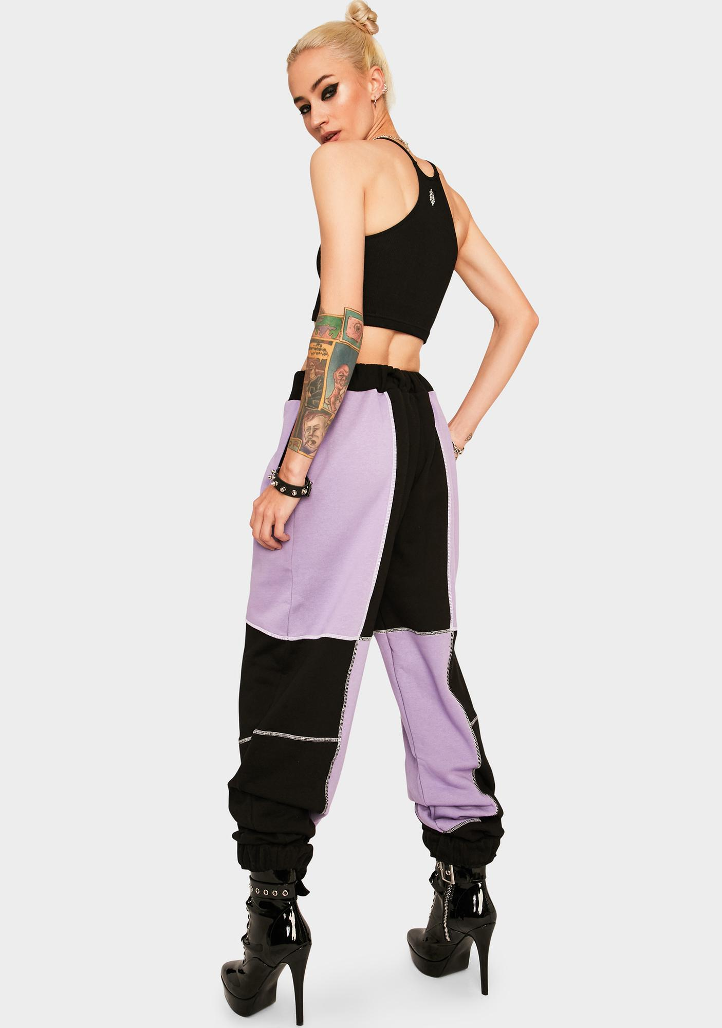 The Ragged Priest Panelled Colorblock Joggers