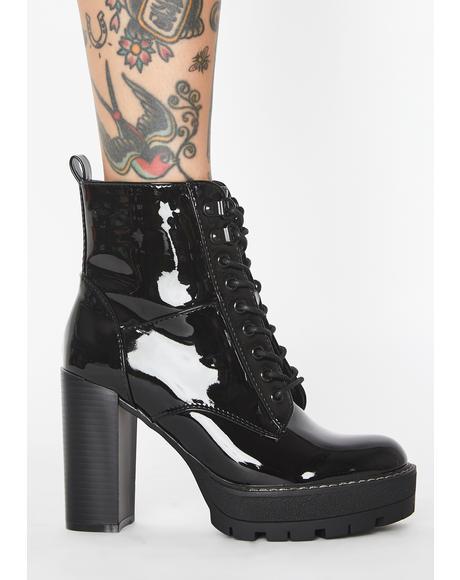 Asha Patent Boots