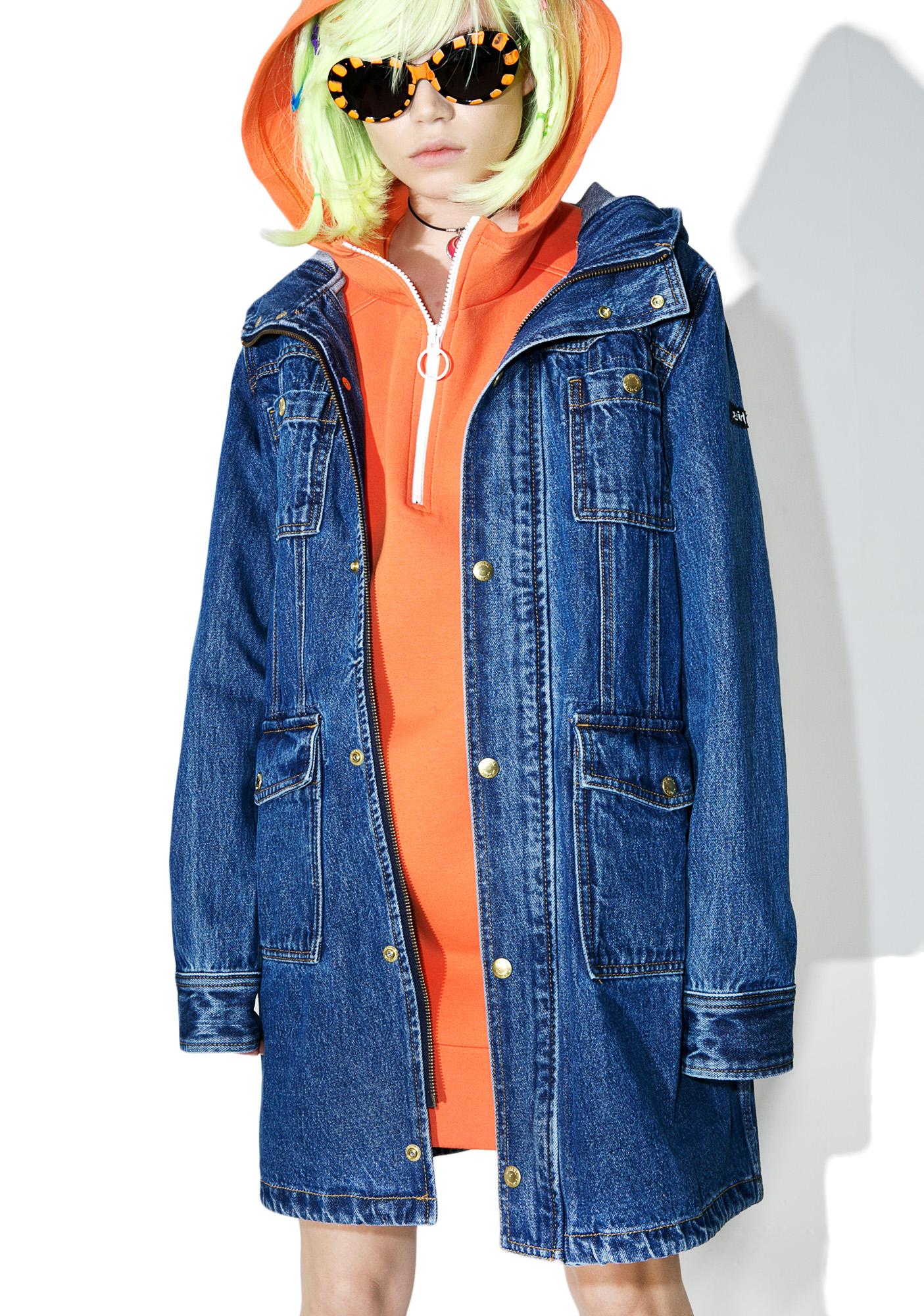 x-Girl Hooded Denim Coat