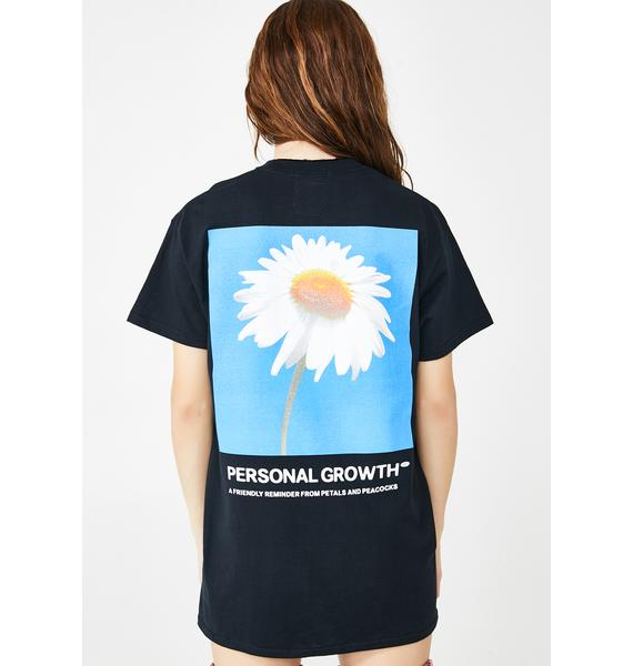 Petals and Peacocks Personal Growth Graphic Tee