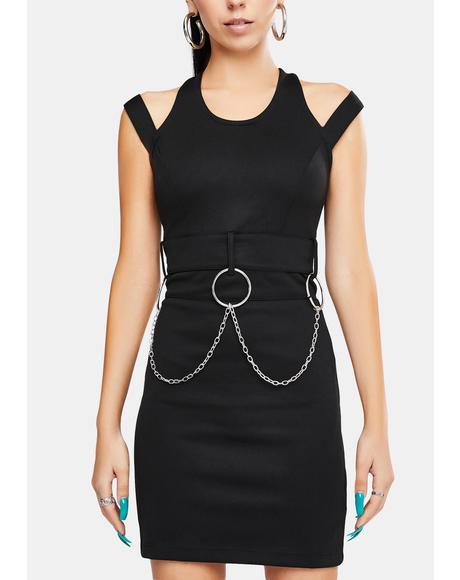 Metal Strappy Mini Dress