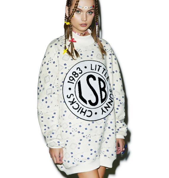 Little Sunny Bite Paisley Sweatshirt Dress