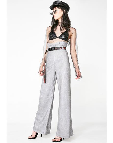 Paperbag Waist Diamante Trousers