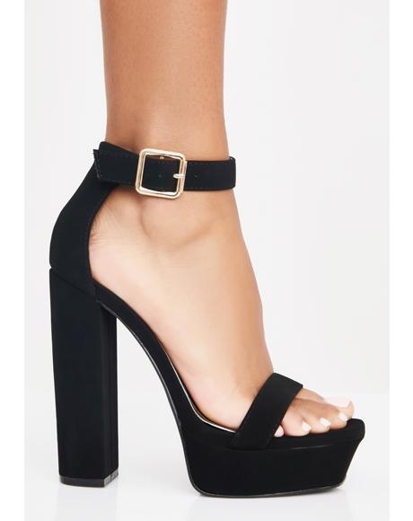 Model Walk Strappy Heels
