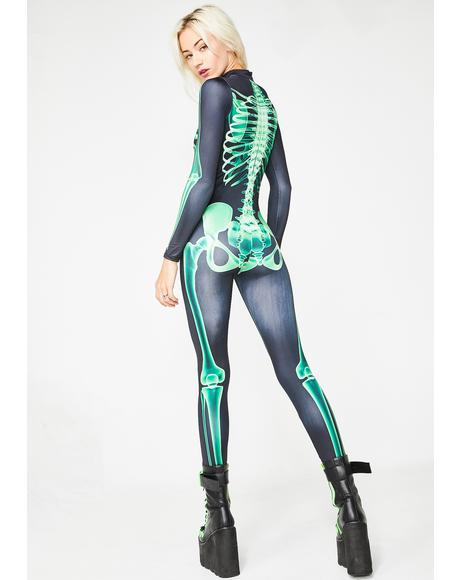 Acid Bones Skeleton Catsuit
