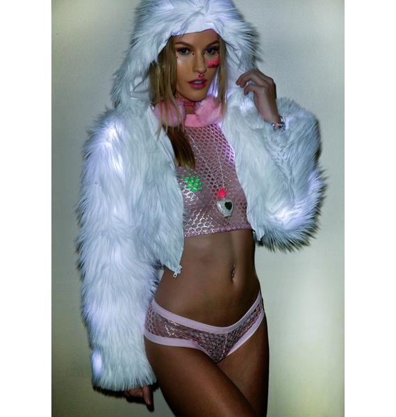 J Valentine Iced Flashing Lights Cropped Jacket