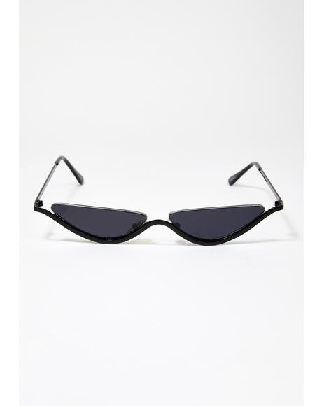 Black Smoke Dixie Tiny Sunglasses