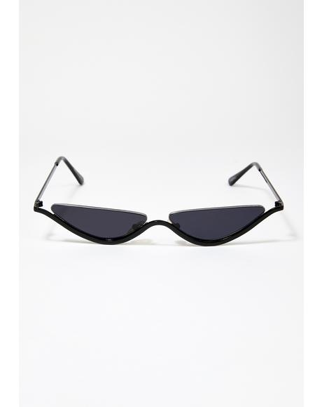 Black Smoke Dixie Tiny Sunglasses